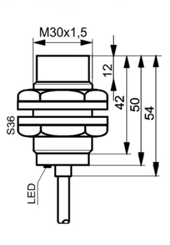 Czujniki indukcyjne TIDC3015Z